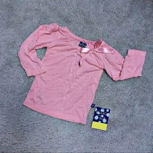 Kickee Pants Pink Peasant Long-Sleeved Shirt